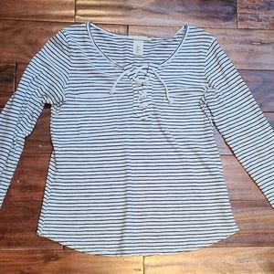 💕4 for $25💕 H&M Long Sleeve Striped 👕